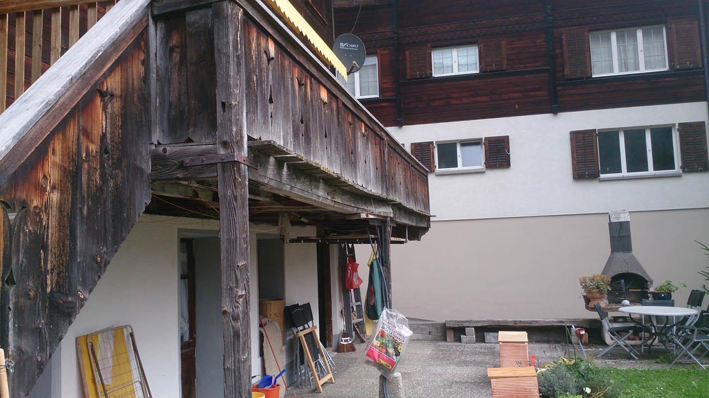 balkonsanierung burri zimmerei chaletbau. Black Bedroom Furniture Sets. Home Design Ideas